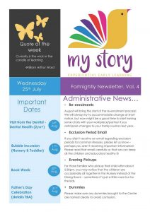 My Story Newsletter Issue #4