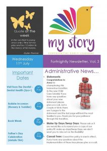 My Story Newsletter Issue #3
