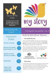 My Story Newsletter Issue #5