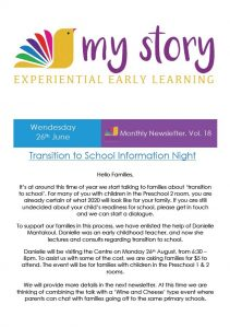 My Story Newsletter Issue #18
